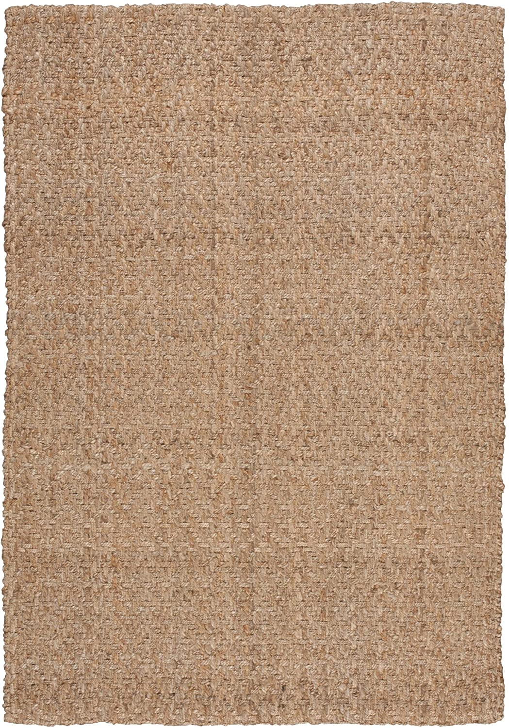Nourison BSKW1 Basket Weave Nature Rectangle Area Rug, Natural, 2' x 3'