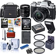 Fujifilm X-T3 26.1MP Mirrorless Camera with XF 18-55mm f/2.8-4 R LM OIS Lens, Silver - Bundle with Case, 32GB SDHC Card, 58mm Filter Kit, Cleaning Kit, Memory Wallet, Card Reader, Mac Software Pack
