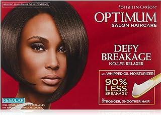 Optimum Care by SoftSheen Carson Care Defy Breakage No-lye Relaxer, Regular Strength for Normal Hair Textures, Optimum Sal...