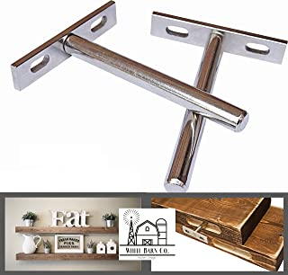 2 INVISIBLE FLOATING SHELF BRACKETS - COMPLETELY HIDDEN - FLUSH MOUNT - LOW PROFILE - Invisible supports for any type of shelf - Hardened Steel Blind Supports 5-8