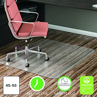 deflecto EconoMat Anytime Use Chair Mat for Hard Floor, 45