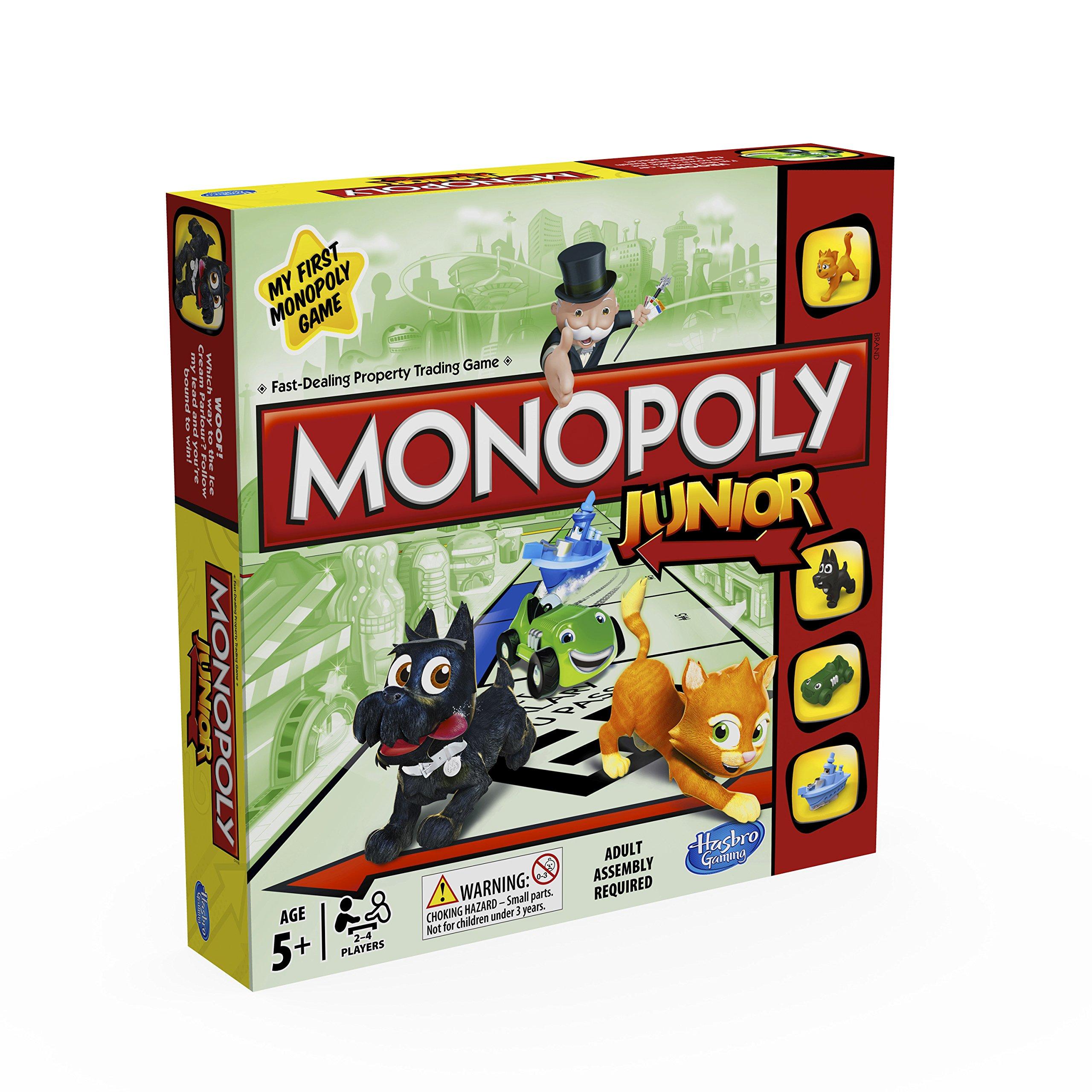 Monopoly Hasbro Gaming Junior, Juego de Mesa (versión en inglés): Amazon.es: Juguetes y juegos