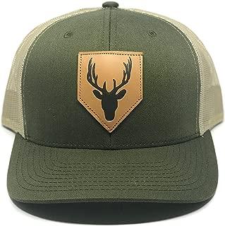 Skye Mountain Co.. - Deer Logo Hat | Curved Brim Trucker Hat - Snapback Mesh (One Size)