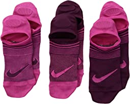 Nike Kids - Performance Lightweight Footie Socks 3-Pair Pack (Little Kid/Big Kid)