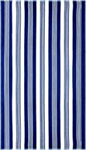 """Superior Luxurious 100% Cotton Beach Towels, Oversized 34"""" x 64"""", Soft Velour Cotton and Absorbent Cotton Terry, Thick and Plush Striped Beach Towels - Blue and White Maui Stripes"""