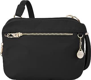 Travelon Women's Anti-Theft Tailored E/w Organizer Travel Purse, Onyx, One Size