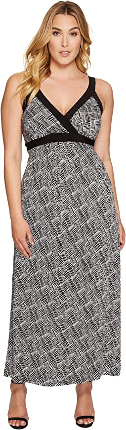 Plus Size Banded Maxi Dress