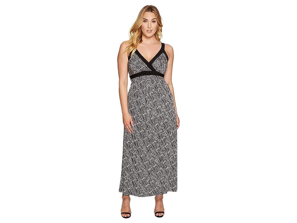 6a2f7d66b5d Karen Kane Plus Plus Size Banded Maxi Dress (Print) Women