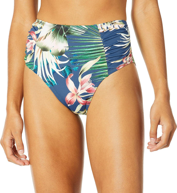 LA BLANCA Ladies 14 Blue Serpentina Shiired Band Bikini Swimsuit Bottoms
