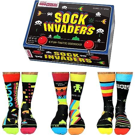 Sock Invaders - United Oddsocks - 6 Oddsocks for Men, Multi Coloured, UK 6-11 EUR 39-46 US 7-12
