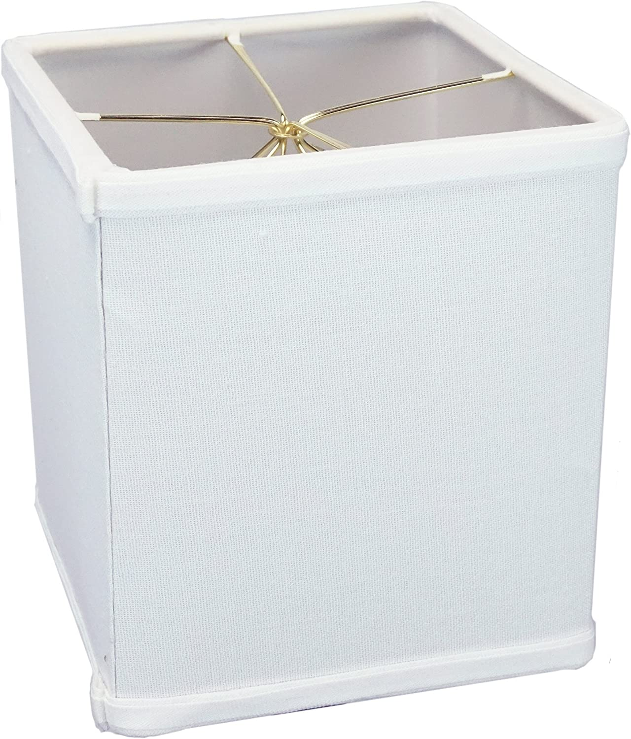 Time sale 6x6x7 White Square Drum Lampshade Linen Small - Max 58% OFF for Perfect Tabl