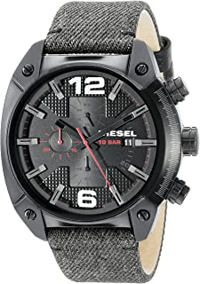 Diesel Men's DZ4373 Overflow Analog Display Quartz Black Watch