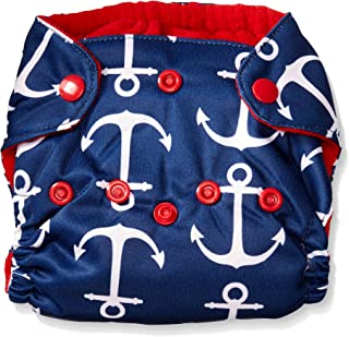 Imagine Baby Products Newborn Stay Dry All-in-One Snap Cloth Diaper, Overboard