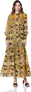 Ministry of Style Women's Gold Light Maxi Dress