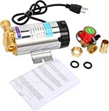 9milelake Stainless Automatic Shower Washing Machine Water Booster Pump - 110V - 90W