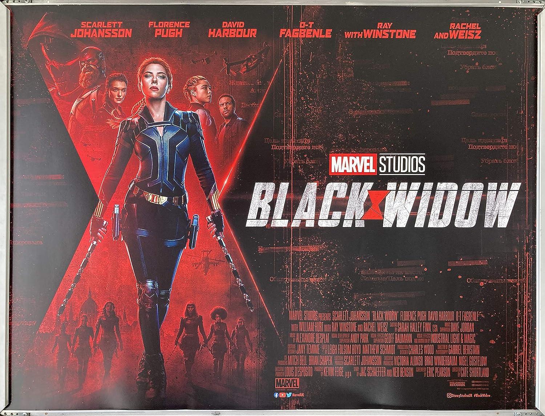 Collectible Cinema Poster: BLACK WIDOW 2021 (Quad) : Amazon.co.uk: Home &  Kitchen