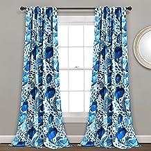 ديكور غني، مجموعة ستائر نافذة معتمة لغرفة المعيشة وغرفة الطعام وغرفة النوم (زوج) 213.36 سم × 132.08 سم، مقاس كبير