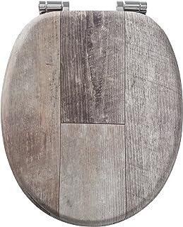 Tiger 老木卫生间座椅,木材,棕色,44 x 37 x 5 厘米