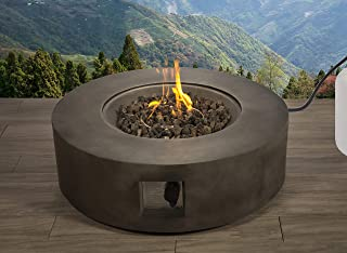 Century Modern Outdoor Fire Pit for Outdoor Home Garden Backyard Fireplace (Charcoal)