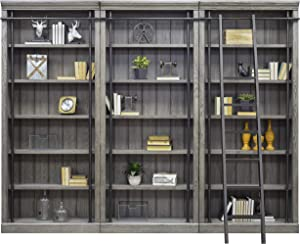 Martin Furniture Avondale 3 Bookcase Wall Gray