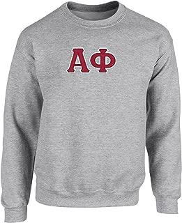Alpha Phi Twill Letter Crewneck Sweatshirt