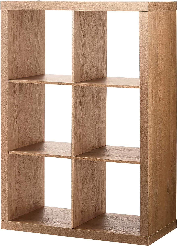 Better Homes & Gardens 6-Cube Storage Organizer, (Natural)