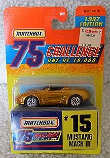 Matchbox Gold Mustang Mach 3 #15 75 Challenge 1997