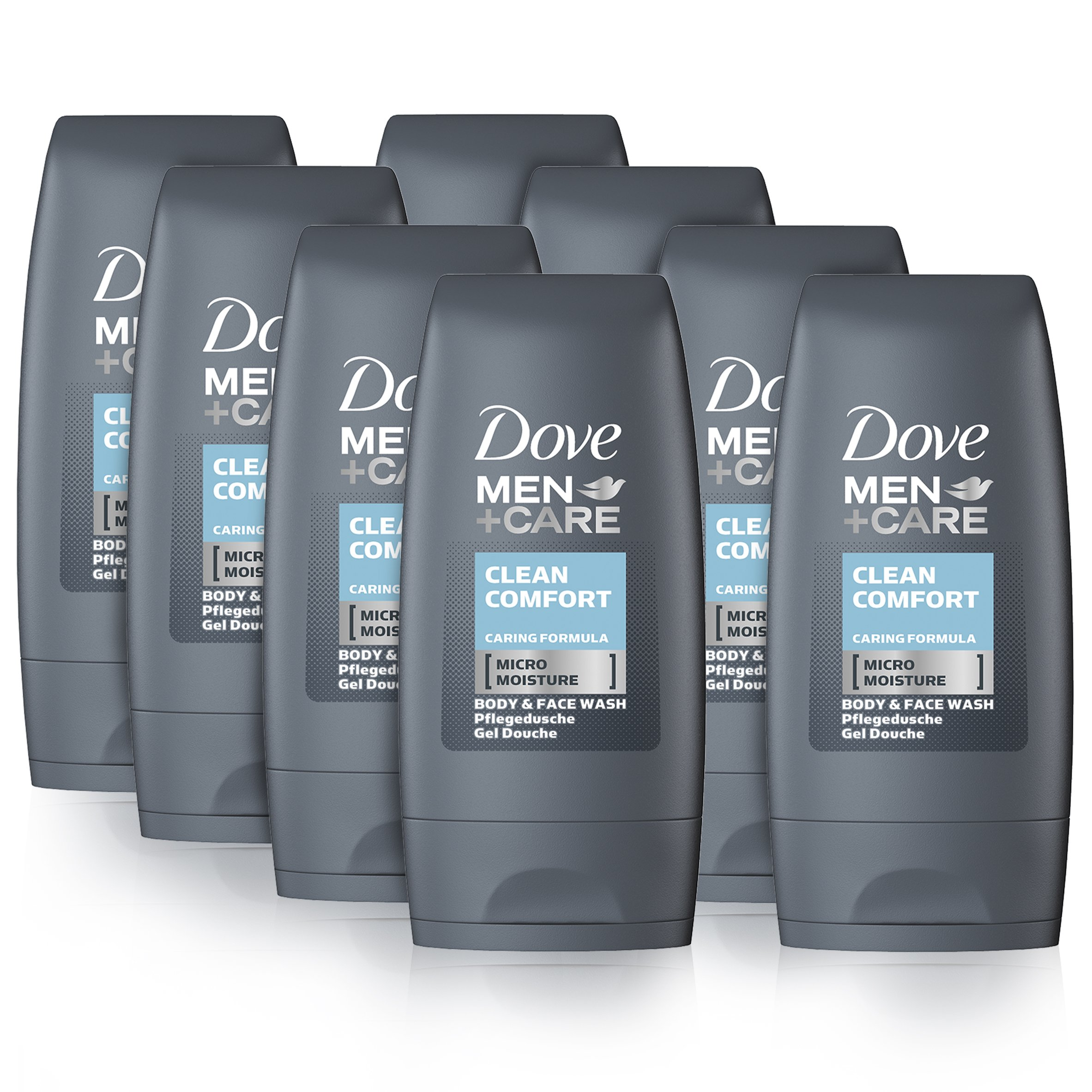 Dove Men Care Clean Comfort Body And Face Wash 55 Ml Pack Of 8 Buy Online In Cayman Islands Dove Men Care Products In Cayman Islands