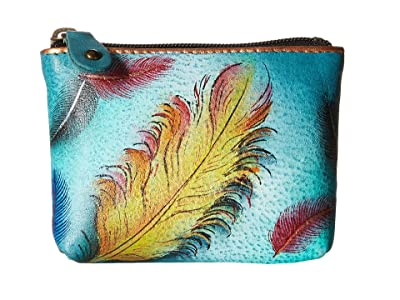 Anuschka Handbags 1031 Coin Pouch (Floating Feathers) Handbags