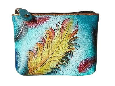 Anuschka Handbags 1031 Coin Pouch (Floating Feathers) Handbags
