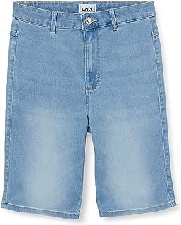 ONLY Damen Onlroyal Hw Bike DNM PIM Jeans-Shorts
