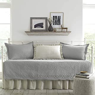 Stone Cottage 5-Piece Daybed Cover Set, Trellis Gray