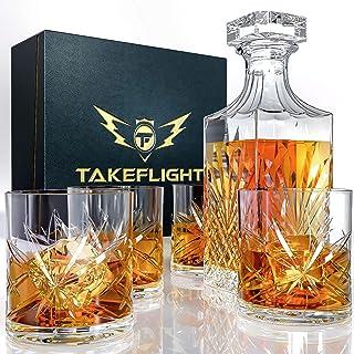 Whiskey Glass Set (Ornate Decanter Set)