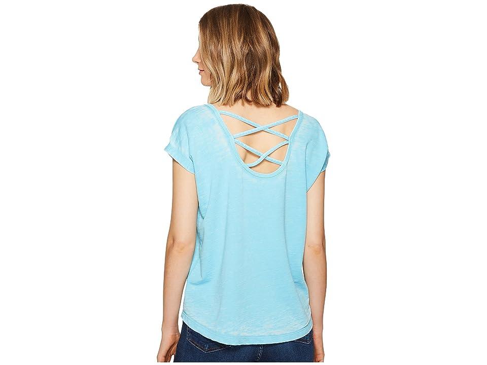 Allen Allen Double Cross Back Tee (Beach) Women's T Shirt