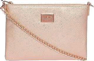 Rose Gold Plain Peta Chain Crossbody Bag
