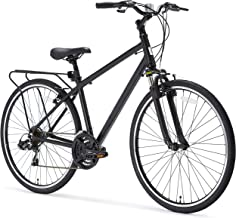 sixthreezero Pave n' Trail Men's 21-Speed Hybrid Road Bicycle, Matte Black 26