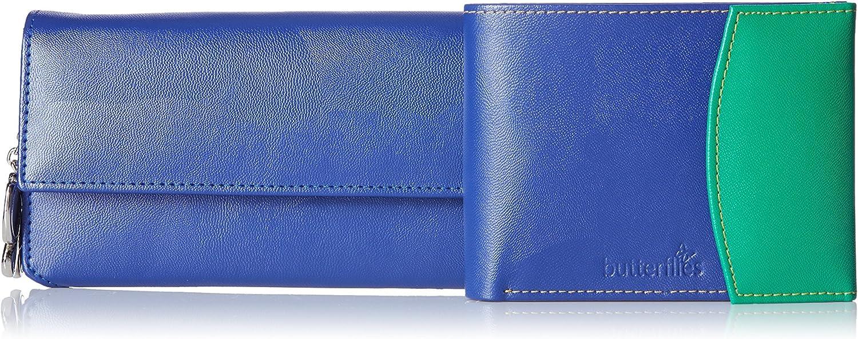 Butterflies Women's Wallet (bluee and Green) (BNS C104)