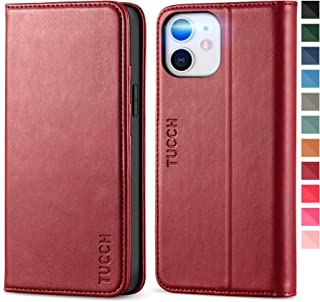 TUCCH iPhone 12 mini Case, PU Leather Wallet Case with Shockproof TPU Shell, Card Slots, Kickstand, Protective Flip Case F...