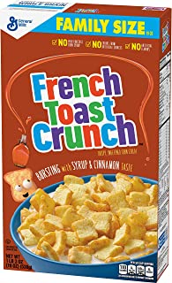 French Toast Crunch Cereal Family Size Box, 19 oz.