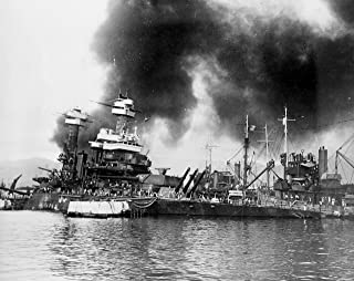 Home Comforts The U.S. Navy Battleship USS California (BB-44) Sinking After Being torpedoed at Pearl Harbor. Vivid Imagery Laminated Poster Print 24 x 36