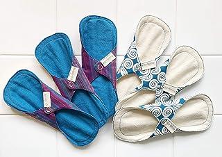 南インド「Eco Femme」布ナプキン (防水あり)軽い日用3枚×2セット