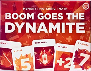 Boom Goes The Dynamite Card Game | Memory Matching Math | 2-6 Players/Deck | Family-Friendly STEM Fun for Kids and Adults
