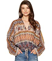 Free People - Hold On Tight Gauze Pullover