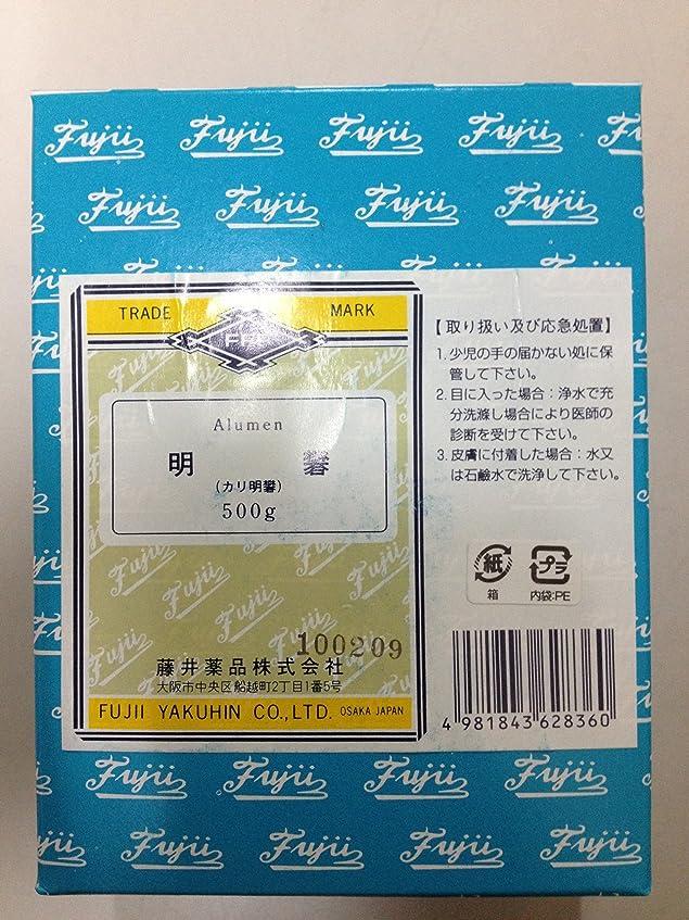 類推センターホバーカリ明礬500g 藤井薬品