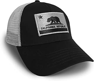 30ef1389 Strange Cargo California Flag Black and Grey Baseball Cap Hat Snapback