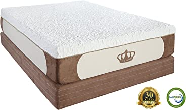 DynastyMattress Cool Breeze 12-Inch Gel Memory Foam Mattress, King Size