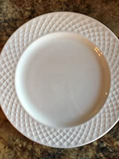 "MIKASA TRELLIS SALAD PLATE 9"" white BONE CHINA WHITE DISHWASHER SAFE 100% AUTHENTIC"