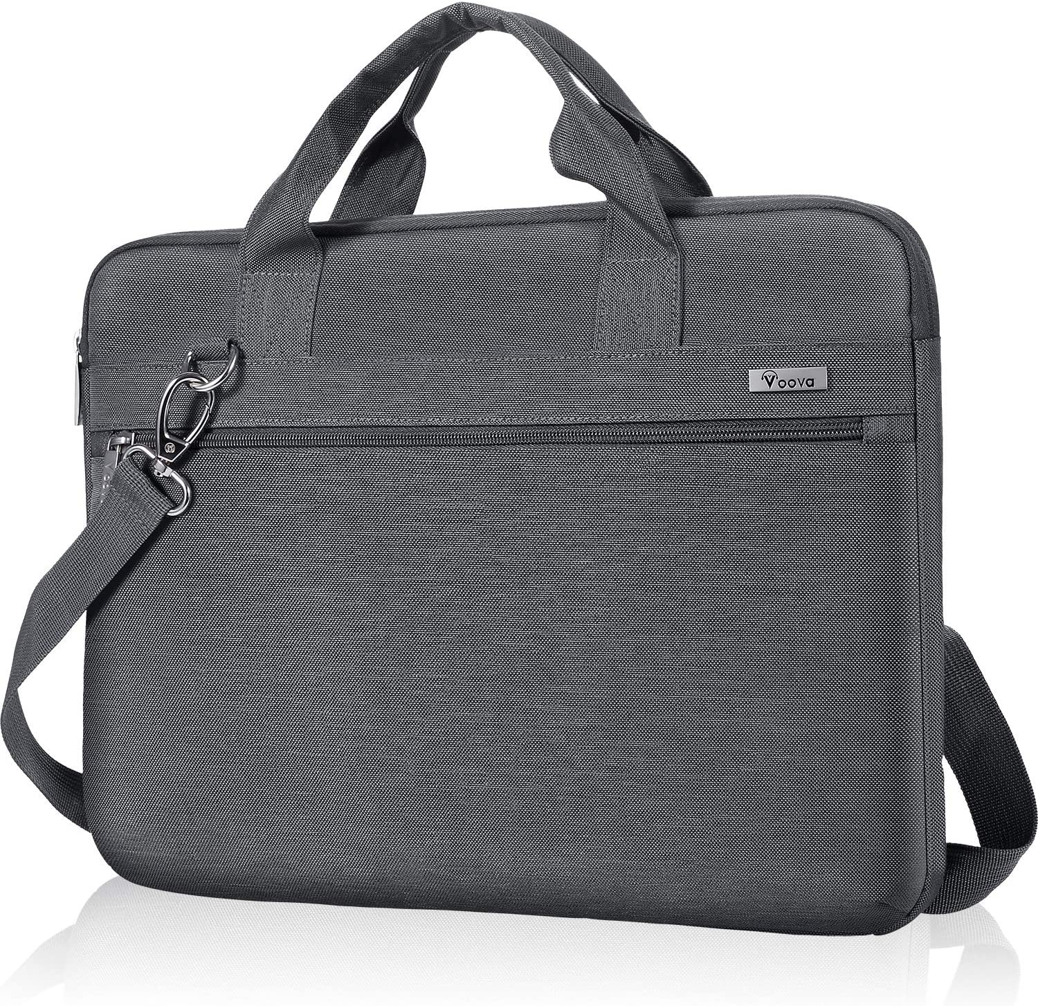 Voova 13 13.3 Inch Laptop Sleeve Case Bag Compatible with Macbook Air/Pro 13, 13.5 Surface Laptop/Book 4 3 2, Hp Dell Xps 13 Chromebook, Upgrade Protective Computer Carrying Briefcase with Strap, Grey