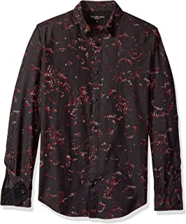Calvin Klein Jeans Long Sleeve Abstract Floral Print Button Down Shirt