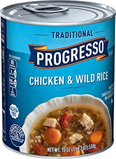 Progresso Soup, Traditional, Chicken and Wild Rice Soup, 19 oz Can